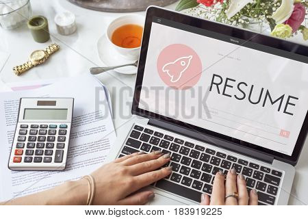Resume New Business Launch Plan Concept