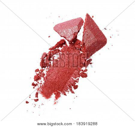 Smear Of Crushed Purple Eye Shadow As Sample Of Cosmetic Product