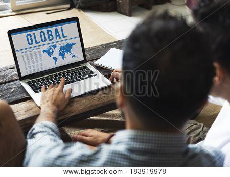 Global Network Digital Worldwide Graphics
