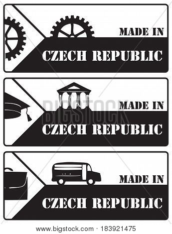 A set of stamp impressions made in the Czech Republic