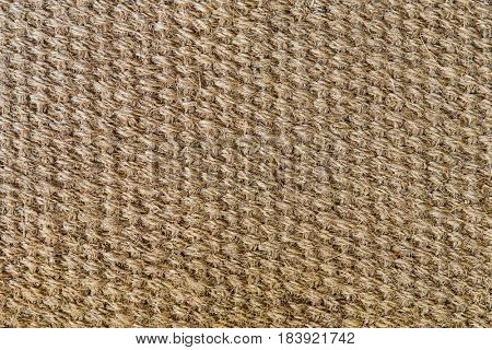 background and texture concept - natural sisal matting surface