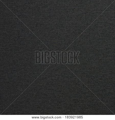 Black canvas texture seamless with copy space