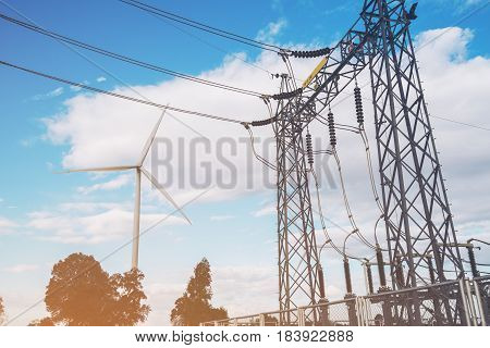 Wind Turbine And Electricity Station