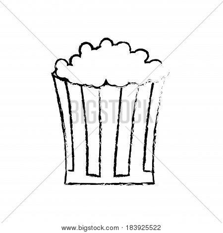 sketch pop corn snack celebration image vector illustration