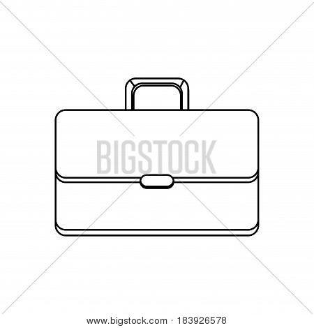 line suitcase to save business documents, vector illustration design