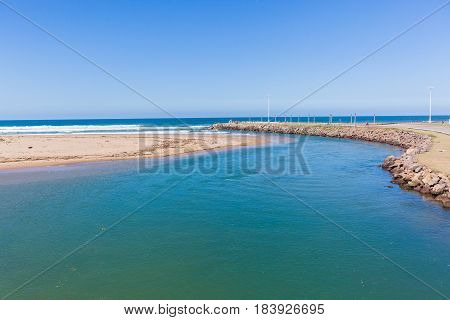 Beach Rivermouth Ocean Rocky Headland