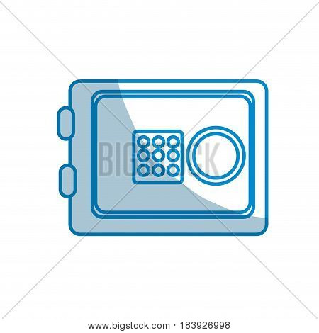 contour metal safe money in the house secure, vector illustration