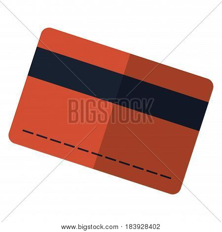 credit card icon over white background. vector illustration