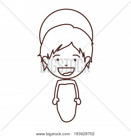 brown silhouette of face baby jesus vector illustration