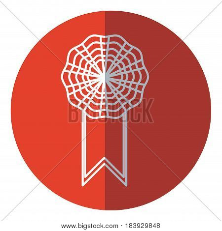 rosette decoration banner element red circle vector illustration