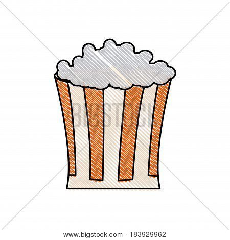 drawing pop corn food celebration party patrotic vector illustration