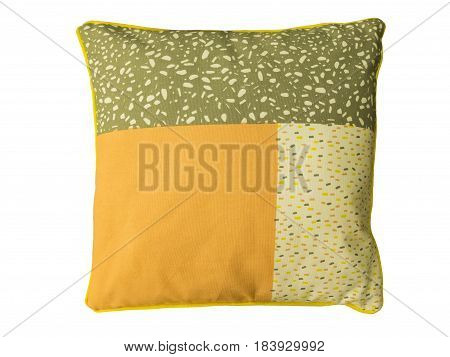 Decorative couch cushion isolated on white background