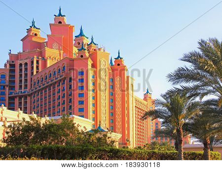 Atlantis Hotel In Dubai On The Palm Jumeirah, United Arab Emirates April 7, 2014,