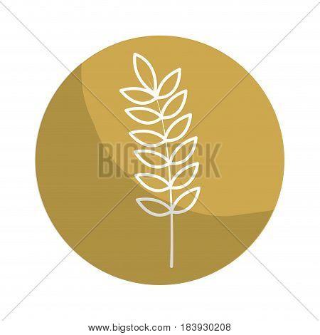 sticker healthy wheat organ plant nutricious, vector illustration