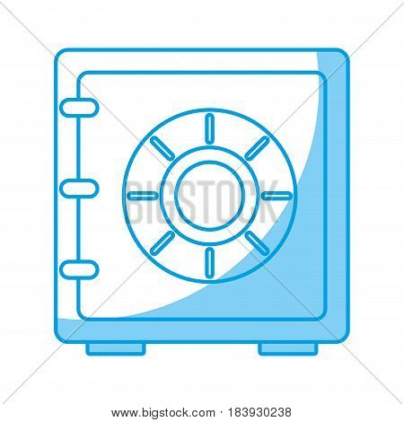safe box icon over white background. vector illustration
