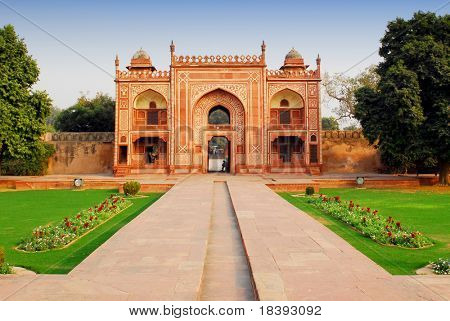 Gate to Itimad-ud-Daulah or Baby Taj in India