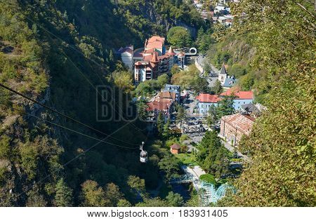 View Of Borjomi Resort Town. Georgia