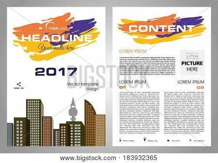 Vector Flyer, Corporate Business, Annual Report, Brochure Design And Cover Presentation With Colorfu