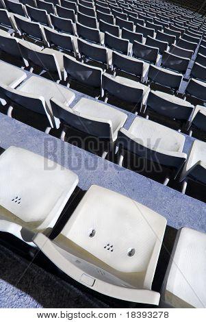 Tribune with stadium seats