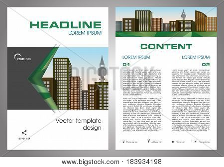 Vector Flyer, Corporate Business, Annual Report, Brochure Design And Cover Presentation In Green Col