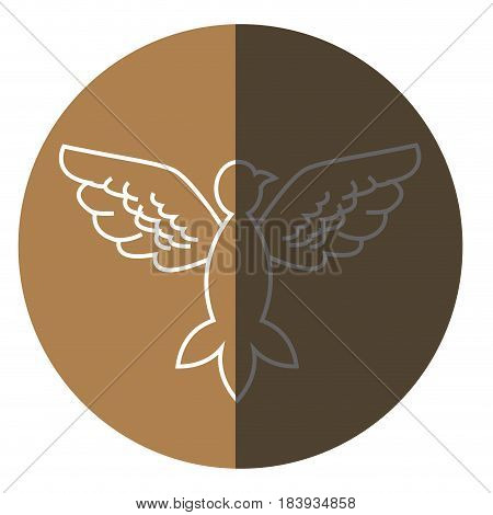 bird pigeon freedom peace wings open icon circle vector illustration
