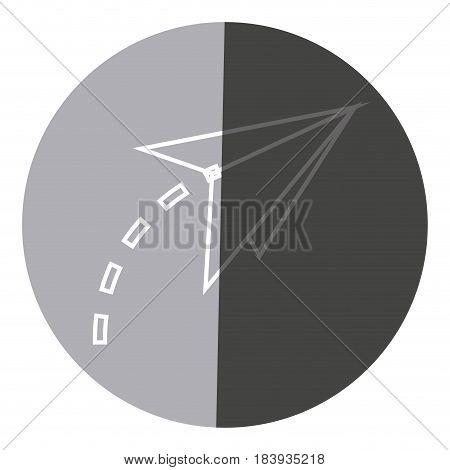 paper airplane origami creativity symbolic icon circle vector illustration