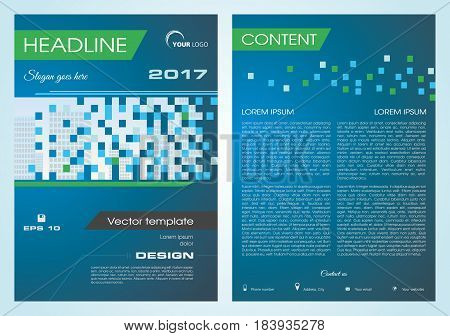 Vector Flyer, Corporate Business, Annual Report, Brochure Design And Cover Presentation With Buildin