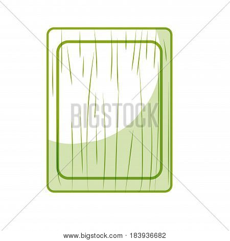 silhouette cutting board practical to prepare fresh vegetable, vector illustration