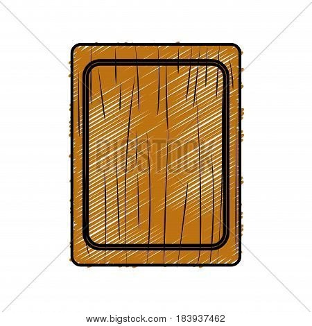 cutting board practical to prepare fresh vegetable, vector illustration