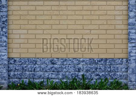 The Texture Of A Modern Concrete Fence In The Form Of Neat Brickwork