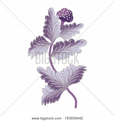 purple plants nature herbal botany, vector illustration