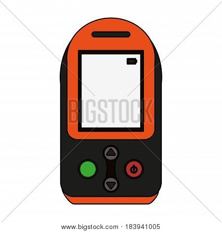 colorful graphic tech generic gps device vector illustration