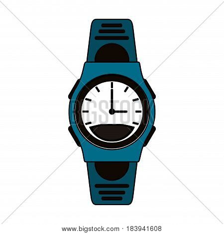 colorful graphic sport male wristwatch vector illustration