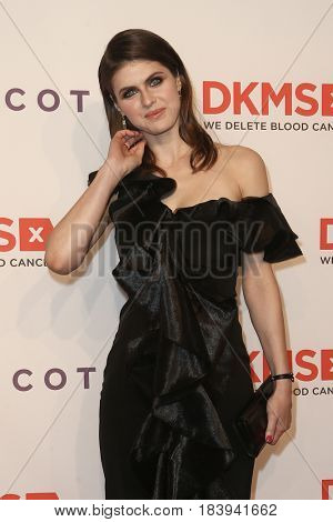 NEW YORK-APR 27: Actress Alexandra Daddario attends the 11th Annual DKMS 'Big Love' Gala at Cipriani Wall Street on April 27, 2017 in New York City.