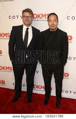 NEW YORK-APR 27: Jan-Jan-Hendrik (L) and Designer Derek Lam (R) attend the 11th Annual DKMS 'Big Love' Gala at Cipriani Wall Street on April 27, 2017 in New York City.