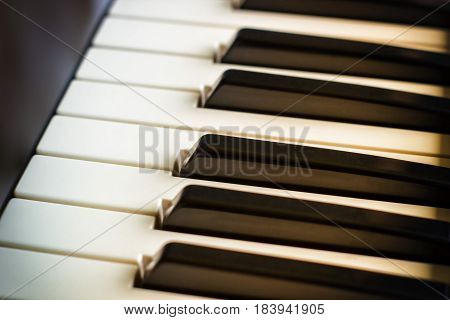 Keyboard Synthesizer Closeup