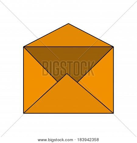 colorful graphic envelope mail open vector illustration