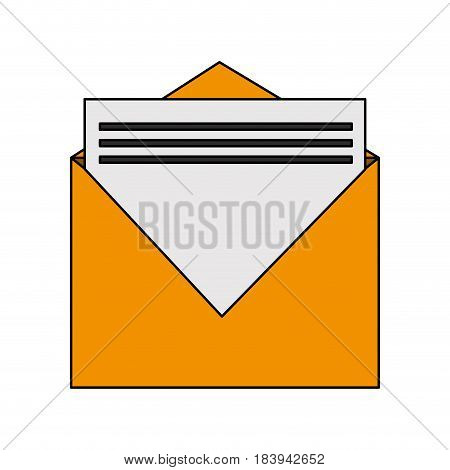 colorful graphic envelopes opened with sheet vector illustration
