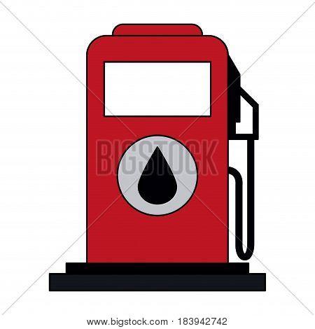 colorful graphic fuel dispenser machine vector illustration