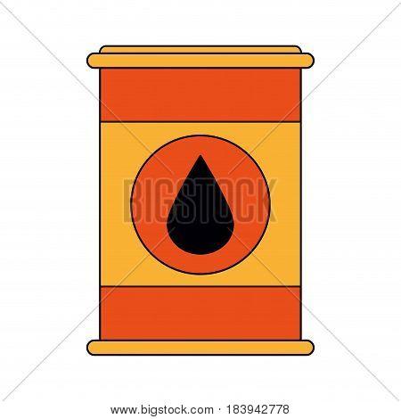 colorful graphic barrel oil with petroleum drop symbol vector illustration