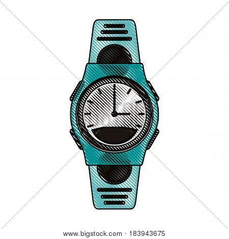 color blurred stripe sport male wristwatch vector illustration