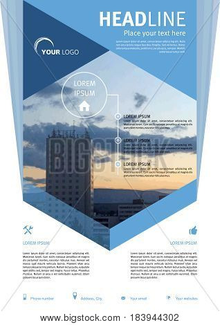 Vector Flyer, Corporate Business, Annual Report, Brochure Design And Cover Presentation In Blue Colo