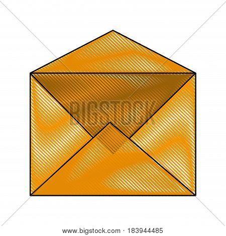 color blurred stripe envelope mail open vector illustration