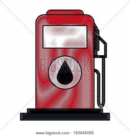 color blurred stripe fuel dispenser machine vector illustration