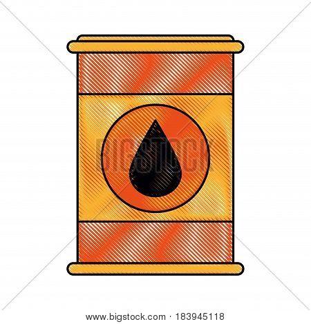 color blurred stripe barrel oil with petroleum drop symbol vector illustration