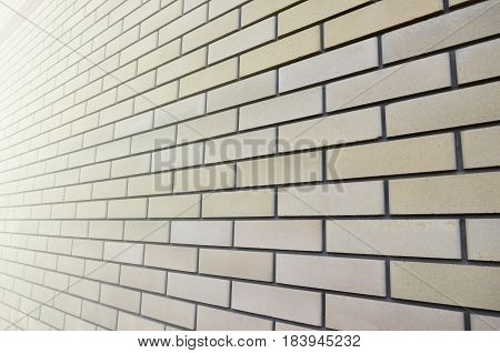 Detailed Picture Of A Quality And Ideally Smooth Brickwork In Perspective