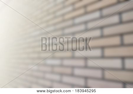 Blurred Picture Of A Quality And Ideally Smooth Brickwork In Perspective
