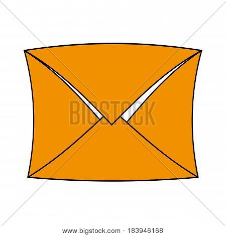 sketch color silhouette envelope mail closed vector illustration