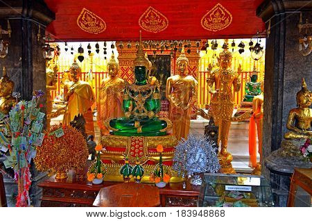 The Jade Buddha sits in the Temple that a man has erected, he shows other people who come to the temple and must understand about his sin. A pilgrim or fan or a simple person should know about the existence of Hell and Paradise. The worship and joy of con