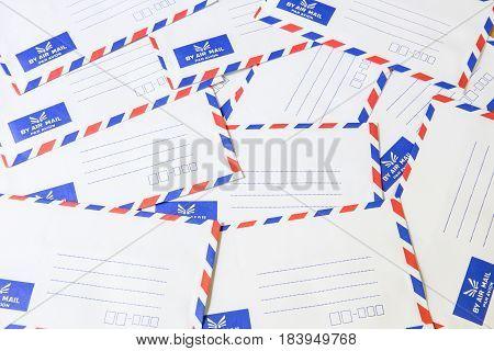 Pile Of Air Mail Envelope